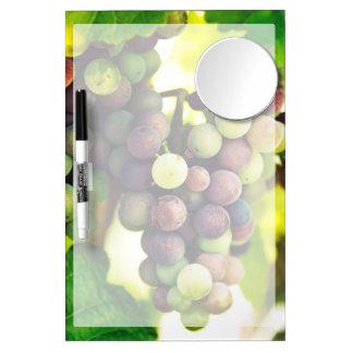 Wonderful Vine Grapes,  Autumn Fall Sun Dry Erase Board With Mirror