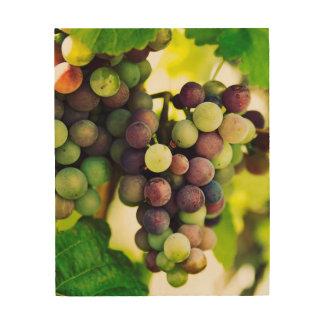 Wonderful Vine Grapes,  Autumn Fall Sun Wood Wall Decor