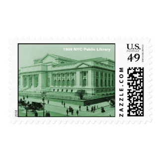 Wonderful vintage photo New York public library Postage