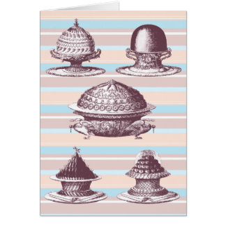Wonderful Vintage Style Birthday Card French Cakes