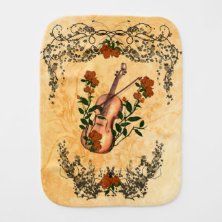 Wonderful violin burp cloth