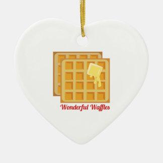 Wonderful Waffles Ceramic Ornament