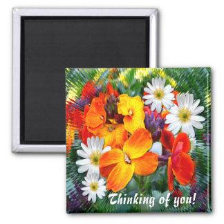 WONDERFUL WALL FLOWERS ~ Magnet