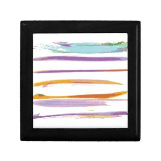 Wonderful watercolor brushes design trinket box
