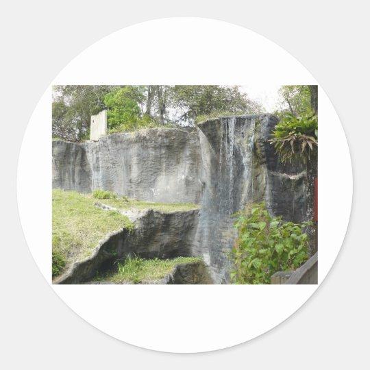 Wonderful Waterfall Classic Round Sticker