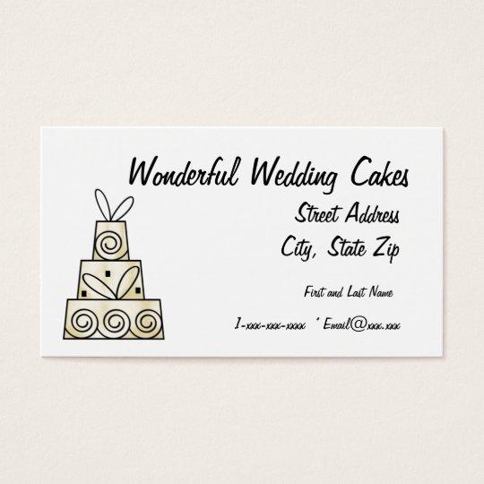 Wonderful Wedding Cakes Business Card