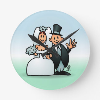 Wonderful Wedding Round Clock