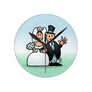 Wonderful Wedding Round Clock