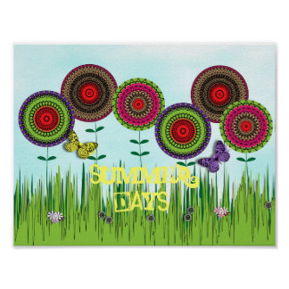 Wonderful Whimsical Summer Days Poster
