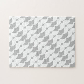 Wonderful White Mustaches on Gray Jigsaw Puzzle