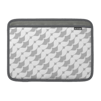 Wonderful White Mustaches on Gray MacBook Air Sleeve