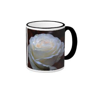 Wonderful White Rose Mugs