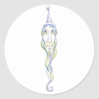 Wonderful Wizard Classic Round Sticker