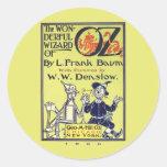 Wonderful Wizard of Oz Sticker Round Sticker