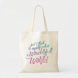 Wonderful World Budget Tote