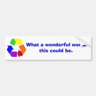 wonderful world car bumper sticker