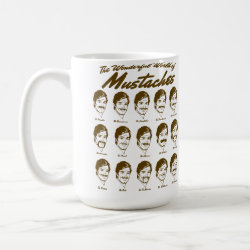 Wonderful World of Mustaches Classic White Mug