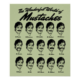 Wonderful World of Mustaches Poster