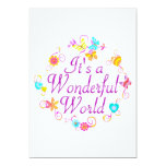 Wonderful World Personalized Announcement