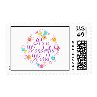 Wonderful World Postage Stamp