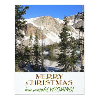 Wonderful Wyoming Merry Christmas 4.25x5.5 Paper Invitation Card