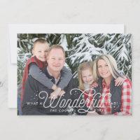 Wonderful Year Full Bleed Christmas Cards