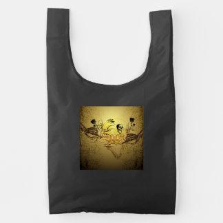 Wonderfull skull reusable bag