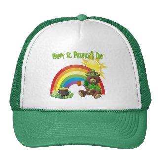 Wonderfully Cute Irish Bear with Flag Design #1 Trucker Hat
