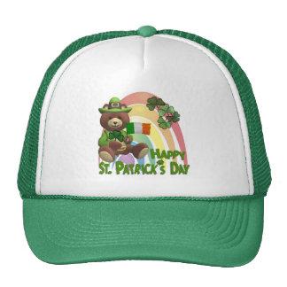 Wonderfully Cute Irish Bear with Flag Design #2 Trucker Hat