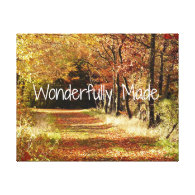 Wonderfully Made Bible Verse Quote Gallery Wrap Canvas