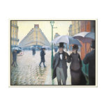 Wonderfully realistic painting Rainy day in Paris Gallery Wrap Canvas