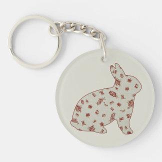 Wonderland 2 Rabbit Keychain
