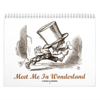 Wonderland Adventure Quotes and Images Calendar