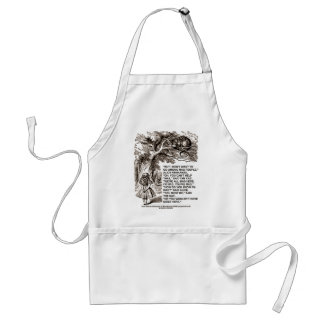 Wonderland Alice Go Among Mad People Quote Adult Apron