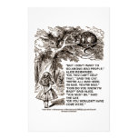 Wonderland Alice Go Among Mad People Quote Customized Stationery