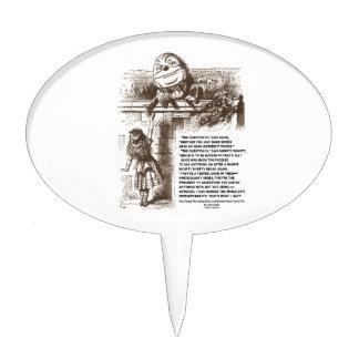 Wonderland Alice Humpty Dumpty Conversation Quote Cake Topper