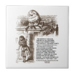 Wonderland Alice Humpty Dumpty Conversation Quote Ceramic Tile at Zazzle