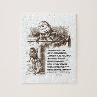 Wonderland Alice Humpty Dumpty Conversation Quote Jigsaw Puzzle