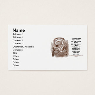 Wonderland Alice Kitty Red Queen Pretend Quote Business Card