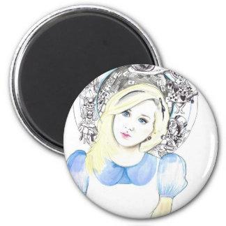 Wonderland Alice Magnet