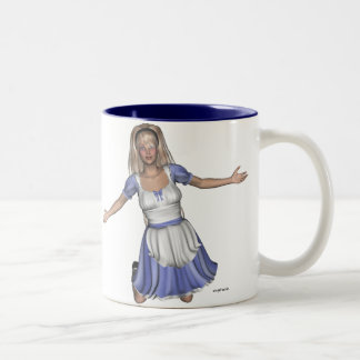 Wonderland Alice Two-Tone Coffee Mug