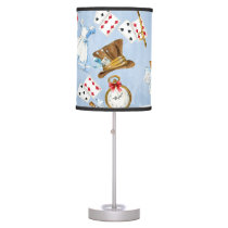 Wonderland Alice Pattern Desk Lamp