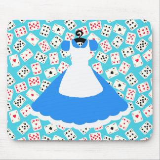 Wonderland Alice Pattern Mouse Pad