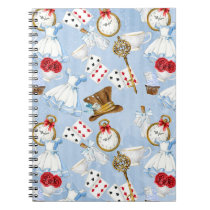 Wonderland Alice Pattern Notebook