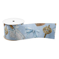 Wonderland Alice Pattern Satin Ribbon