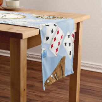 Wonderland Alice Pattern Short Table Runner