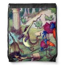 Wonderland Animals Drawstring Backpack
