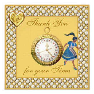Wonderland Baby Shower Thank You for Your Time Card