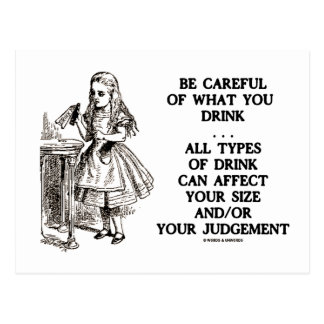 Wonderland Be Careful What You Drink (Alice) Postcard