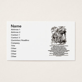 Wonderland Be What You Would Seem To Be Alice Business Card